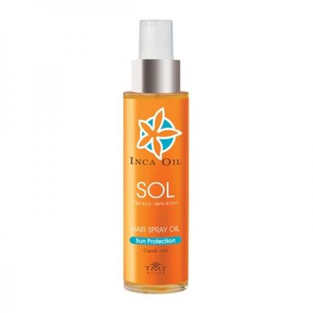 TMT:  SOL  SEMI DI LINO SPRAY OIL HAIR SUN PROTECTION. HAIR SPRAY OIL PRODOTTI PROFESSIONALI PER CAPELLI  &  FERMAGLI
