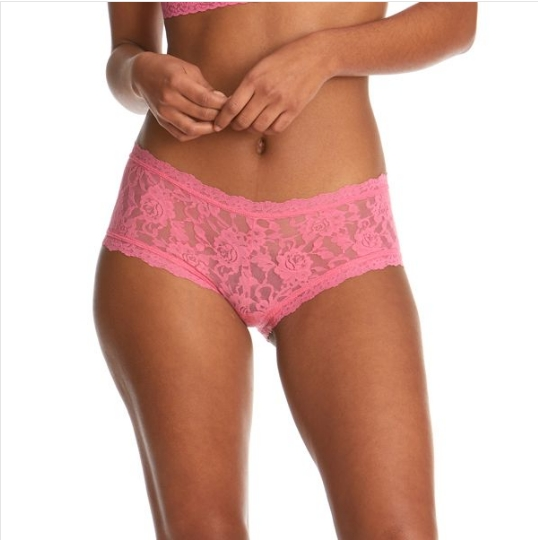 HANKY PANKY COULOTTE IN PIZZO COLORE ROSA LIP GLOSS
